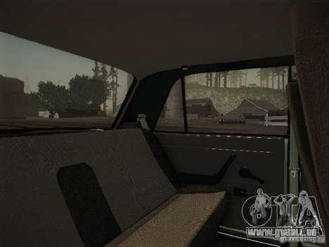 VAZ 2107 v2 pour GTA San Andreas vue intérieure
