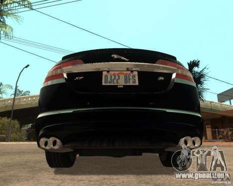 Jaguar XFR 2009 für GTA San Andreas zurück linke Ansicht