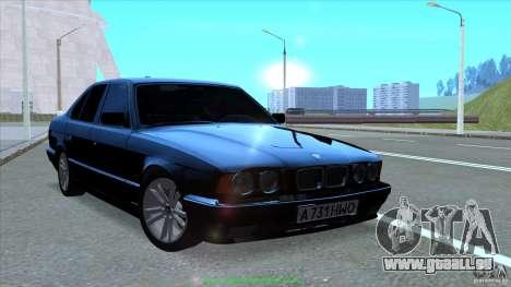 BMW E34 V1.0 pour GTA San Andreas vue de dessus