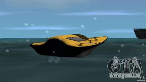 X-87 Offshore Racer pour GTA Vice City sur la vue arrière gauche