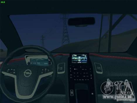 Opel Ampera 2012 für GTA San Andreas Rückansicht