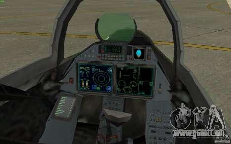 Su-35 BM v2. 0 für GTA San Andreas Rückansicht