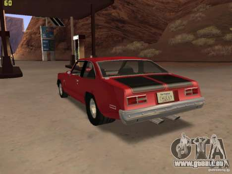 Chevrolet Nova Chucky pour GTA San Andreas laissé vue
