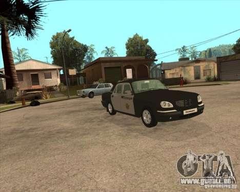 GAZ Volga 3110 Police von versandfertig für GTA San Andreas rechten Ansicht