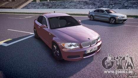 BMW 135i Coupe v1.0 2009 für GTA 4 Rückansicht