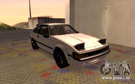 Toyota Celica Supra 2JZ-GTE 1984 pour GTA San Andreas laissé vue