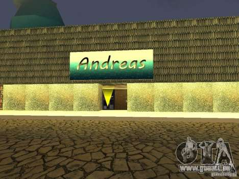 Andreas Cafe pour GTA San Andreas deuxième écran