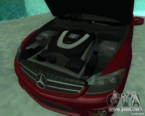 Mercedes-Benz CL65 AMG pour GTA San Andreas vue intérieure