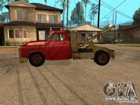 Camion Dodge est rouillée pour GTA San Andreas laissé vue