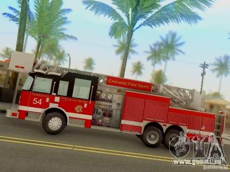 Pierce Tower Ladder 54 Chicago Fire Department für GTA San Andreas linke Ansicht