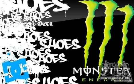 Boot-Screen Monster Energy für GTA San Andreas fünften Screenshot