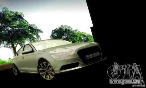Audi A6 2012 pour GTA San Andreas sur la vue arrière gauche