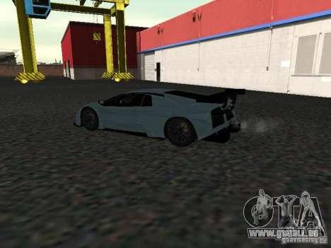 Lamborghini Murcielago R-GT pour GTA San Andreas vue arrière
