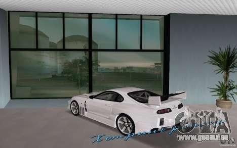 Toyota Supra Chargespeed pour une vue GTA Vice City de la gauche