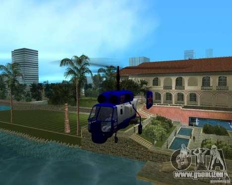 Ka-27 pour GTA Vice City sur la vue arrière gauche