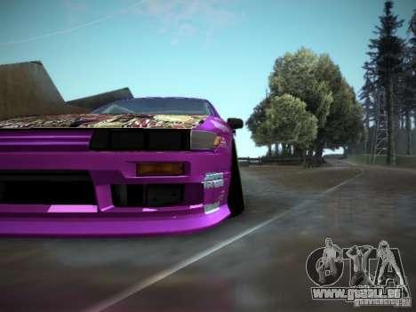 Nissan Silvia S13 Team Burst für GTA San Andreas Rückansicht