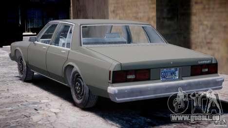 Chevrolet Impala 1983 [Final] pour GTA 4 est un droit