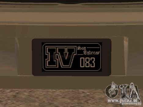Chavos de Gta 4 pour GTA San Andreas vue arrière