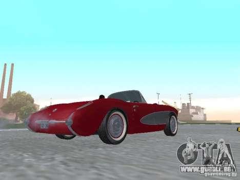 Chevrolet Corvette C1 pour GTA San Andreas sur la vue arrière gauche