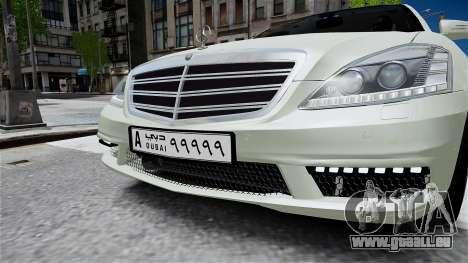 Mercedes-Benz S65 AMG LONG 2010 pour GTA 4 est un droit