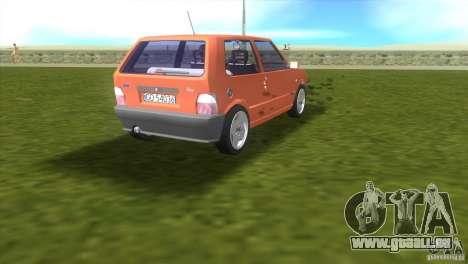 Fiat Uno pour une vue GTA Vice City de la droite