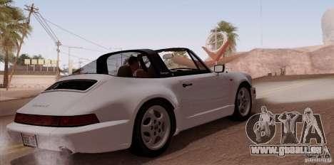 Porsche 911 Carrera 4 Targa (964) 1989 pour GTA San Andreas vue de droite