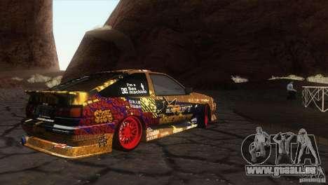 Toyota Corolla AE86 DS pour GTA San Andreas laissé vue