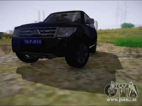 Mitsubishi Pajero 2012 pour GTA San Andreas laissé vue