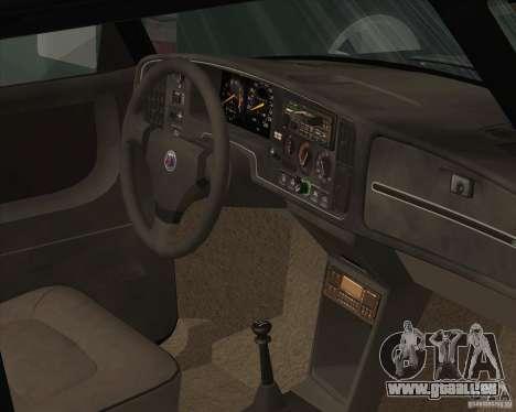 Saab 900 Turbo 1989 v.1.2 für GTA San Andreas Innen