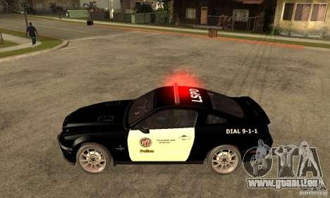 Shelby GT500KR Edition POLICE pour GTA San Andreas laissé vue