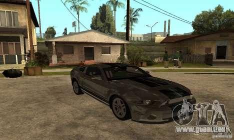 Ford Mustang Shelby 2010 für GTA San Andreas rechten Ansicht