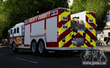 Pierce Heavy Rescue Pumper V1.4 pour GTA 4 Vue arrière de la gauche
