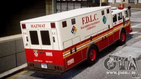 LCFD Hazmat Truck v1.3 für GTA 4 rechte Ansicht