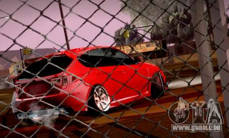 Subaru Impreza WRX Camber für GTA San Andreas Rückansicht