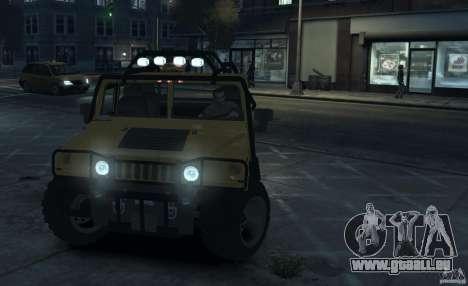 Hummer H1 4x4 Extras pour GTA 4 est une gauche