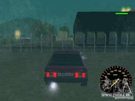 VAZ 2108 classique pour GTA San Andreas vue de droite