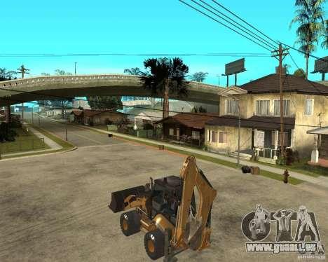 Lastik Tekerli Dozer für GTA San Andreas linke Ansicht