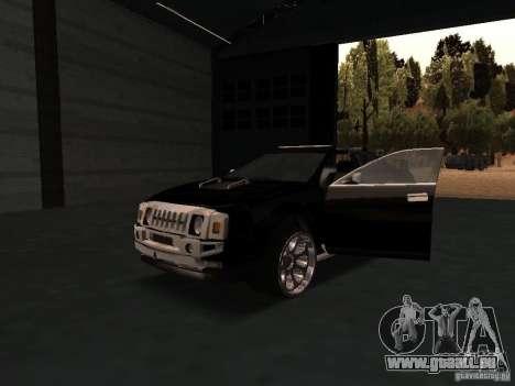 Hummer H0 pour GTA San Andreas vue intérieure