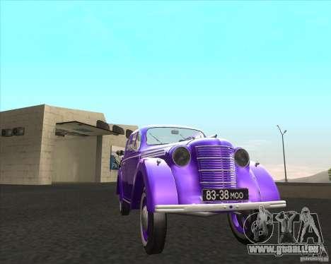 AZLK 401 pour GTA San Andreas sur la vue arrière gauche