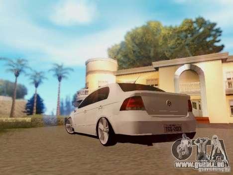 Volkswagen Voyage G5 Roda Passat CC pour GTA San Andreas laissé vue
