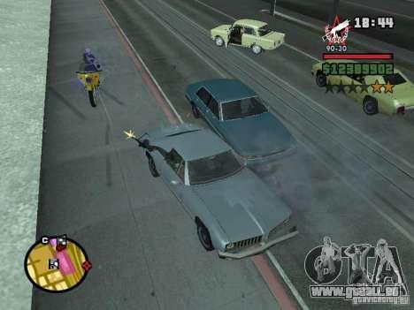 Ein Wachmann für die CJ mit miniganom für GTA San Andreas dritten Screenshot