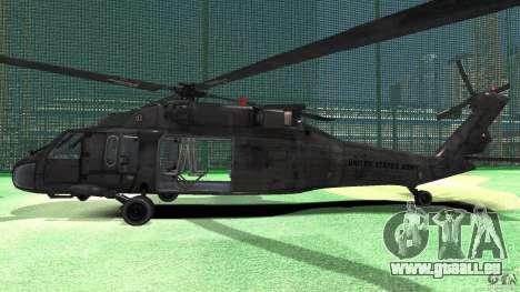 Sikorsky UH-60 Black Hawk für GTA 4 hinten links Ansicht