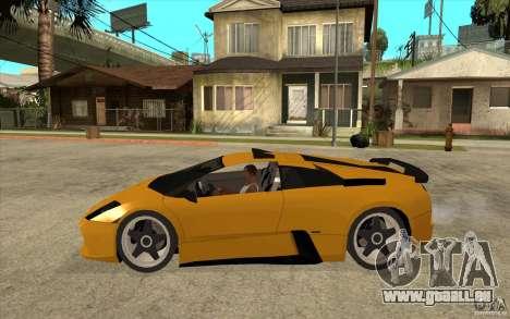 Lamborghini Murcielago pour GTA San Andreas laissé vue