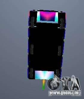 Eine fröhliche Farbe-tank für GTA San Andreas Seitenansicht