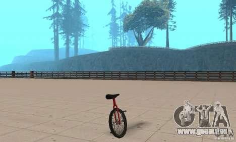 Unicycle für GTA San Andreas linke Ansicht