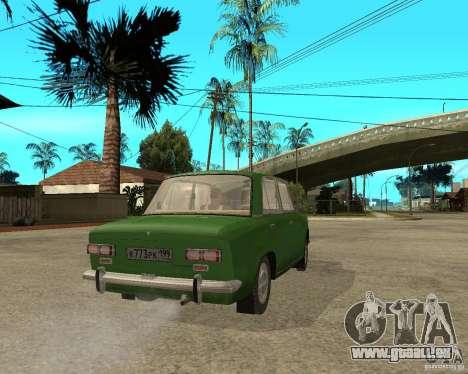 VAZ 2101 Kopek pour GTA San Andreas sur la vue arrière gauche