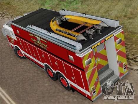 Pierce Walk-in SFFD Heavy Rescue für GTA San Andreas Innenansicht