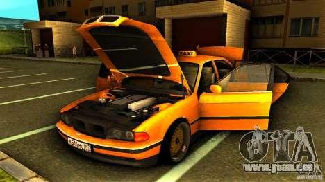 BMW 730i Taxi für GTA San Andreas Seitenansicht
