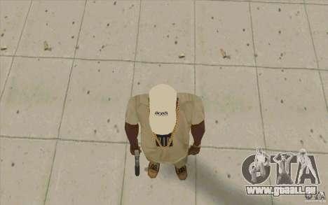 Boss Cap weiss für GTA San Andreas dritten Screenshot