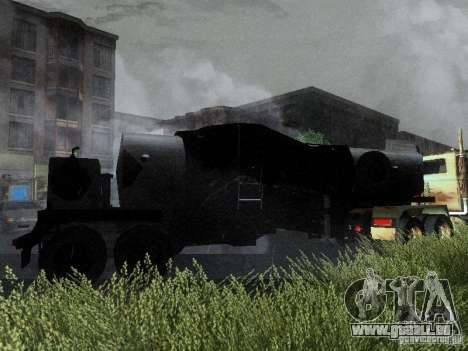 Remorque carburant blindé de Mack camion Titan pour GTA San Andreas vue arrière